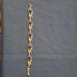 "Sarah Coventry ""blue hawaii"" Bracelet 8""L"